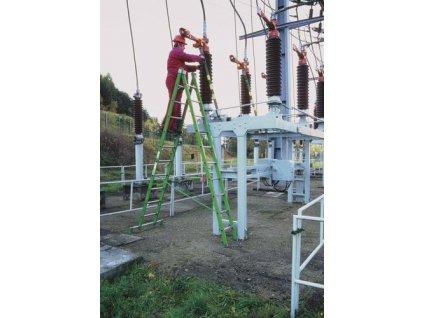 Rebrík ALVE 5530, 2x10, laminátový, univerzálny, 5,45 m  + praktický pomocník k objednávke