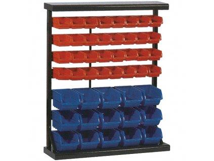 Stojan s plastovými boxami HL3202, 47 zásobníkov, 94x30x115 cm  + praktický pomocník k objednávke