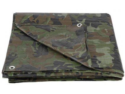 Plachta Tarpaulin Khaki 10,0x15,0 m, 80 g/m, zakrývacia, oliva/kamufláž  + praktický pomocník k objednávke