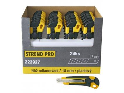 Nôž Strend Pro UKBOX-85, 18 mm, odlamovací, plastový, Sellbox 24 ks  + praktický pomocník k objednávke