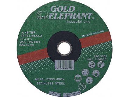 Kotúč Gold Elephant 41AA 230x1,9x22,2 mm, rezný na kov a nerez A46TBF  + praktický pomocník k objednávke