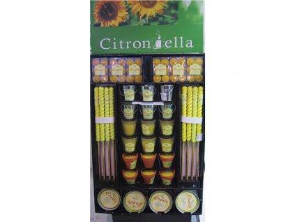 Sada sviečok Citronella TL09-144, 144 dielna, DisplayBox  + praktický pomocník k objednávke
