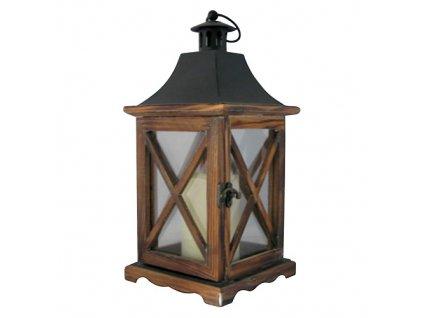 Lampas MagicHome LW8834, 16x16x35 cm, LED, 3xAAA, drevo  + praktický pomocník k objednávke