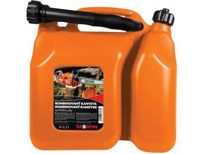 Kanister SHERON 06+2.5 lit, kombinovaný na olej a PHM  + praktický pomocník k objednávke