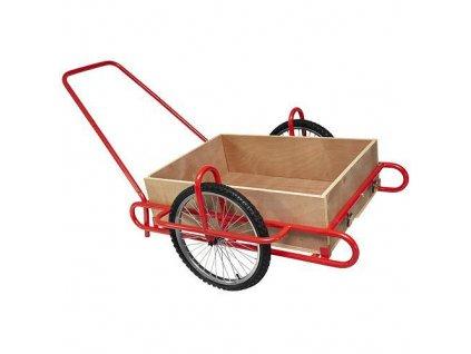 Vozik Optimus, s drevenou korbou, nosnosť 240 kg  + praktický pomocník k objednávke