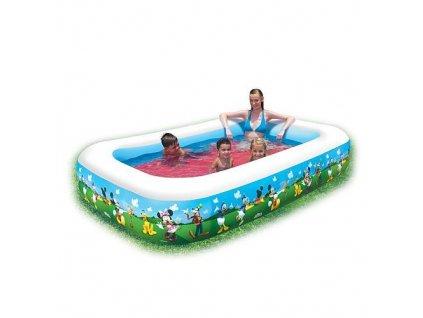 Bazén Bestway® 91008, Mickey Mouse, detský, nafukovací, 2,62x1,75x0,51 m  + praktický pomocník k objednávke