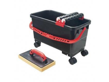 Sada Strend Pro P1111, vedro 24 lit. na kolieskach s valčekom + 2x valček + hladítko  + praktický pomocník k objednávke