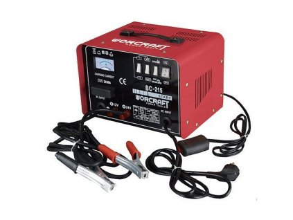 Nabíjačka Worcraft BC-215, 12/24V,230V, 40A, na autobatérie, funkcia štart  + praktický pomocník k objednávke