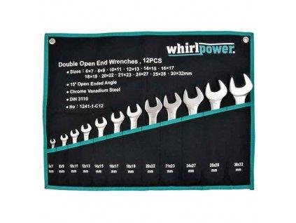 Sada kľúčov whirlpower® 1241-1-C12, 12 dielna, vidlicová  + praktický Darček k objednávke