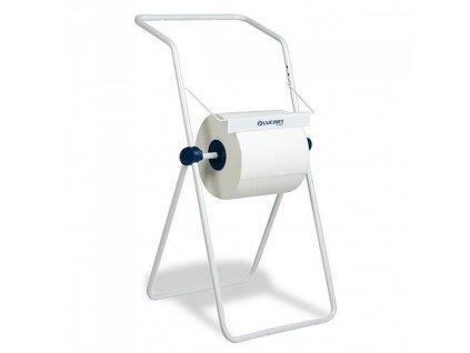 Stojan LUCART, 900x500x470 mm, na priemyselne rolky, s držiakom na odpadové vrecia  + praktický pomocník k objednávke