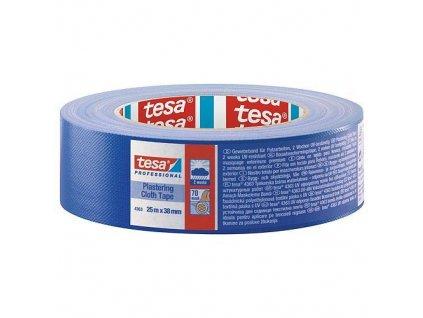 Paska tesa® PRO Plastering, omietacia, textilná, modrá, UV, 38 mm, L-25 m  + praktický pomocník k objednávke