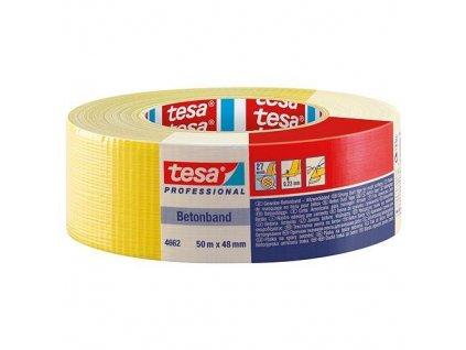 Paska tesa® PRO Betonband, textilná, žltá, 48 mm, L-50 m  + praktický pomocník k objednávke
