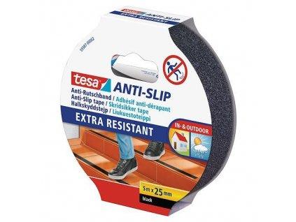 Paska tesa® Anti-slip, protišmyková, čierna, 25 mm, L-5 m  + praktický Darček k objednávke