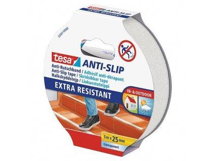 Páska tesa® Anti-slip, protišmyková na schody, transparentná, 25 mm, L-5 m  + praktický pomocník k objednávke