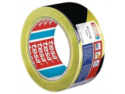 Paska tesa® PRO Marking, lepiaca, výstražná, žlto-čierna, 50 mm, L-33 m  + praktický pomocník k objednávke