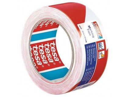 Paska tesa® PRO Marking, lepiaca, výstražná, červeno-biela, 50 mm, L-33 m  + praktický pomocník k objednávke