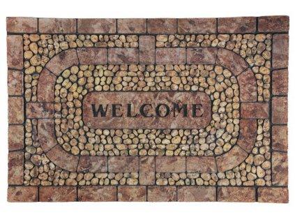 Rohožka MagicHome RBM 406, Welcome, guma, 890x580 mm  + praktický pomocník k objednávke