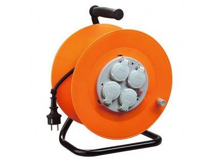 Kábel Strend Pro CR038, 4 zásuvky, L-50 m, IP44, guma, predlžovací, na bubne  + praktický pomocník k objednávke