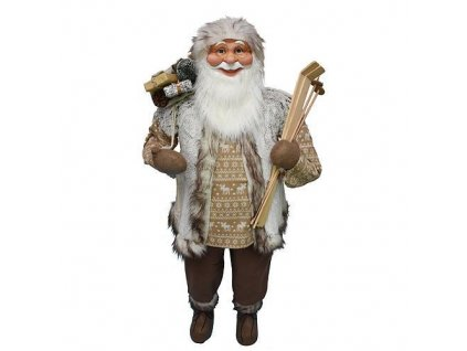 Dekoracia XmSA26, Santa, hnedý, 150 cm  + praktický pomocník k objednávke