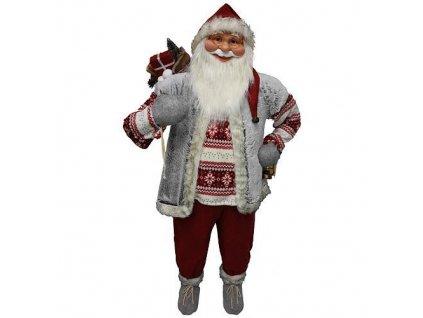 Dekoracia XmSA25, Santa, s vestou, 150 cm  + praktický pomocník k objednávke