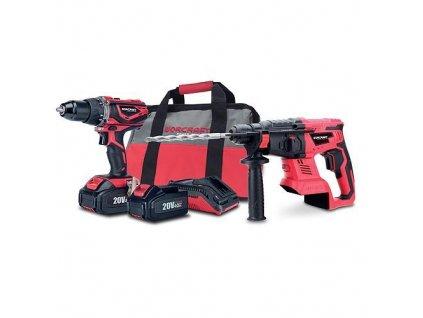 Set Worcraft WSET-04, S20Li kladivo, skrutkovač, nabíjačka, 2x accu + brašňa  + praktický pomocník k objednávke