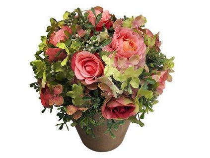 Kytica MagicHome Roma sukulent, 25 cm, kvetináč - papier  + praktický Darček k objednávke