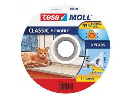 Tesnenie tesamoll® profil P, 9 mm, biele, 100 m  + praktický pomocník k objednávke