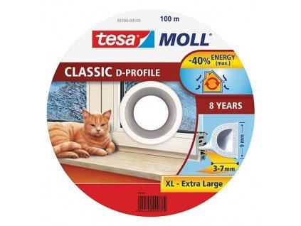 Tesnenie tesamoll® profil D, 9 mm, biele, 100 m  + praktický pomocník k objednávke