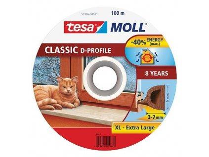 Tesnenie tesamoll® profil D, 9 mm, hnedé, 100 m  + praktický Darček k objednávke