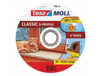 Tesnenie tesamoll® profil D, 9 mm, hnedé, 100 m  + praktický pomocník k objednávke