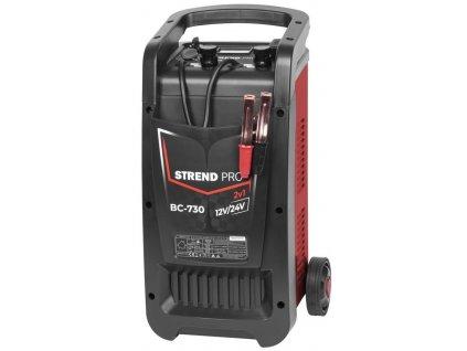 Vozík Strend Pro BC-730, 12/24V, Boost, štartovací a nabíjací na autobatérie  + praktický pomocník k objednávke