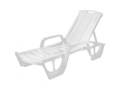 Ležadlo Curver® FLORIDA, biele, plast, lehátko  + praktický pomocník k objednávke