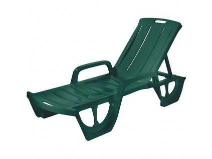 Ležadlo Curver® FLORIDA, zelené, plast, lehátko  + praktický pomocník k objednávke