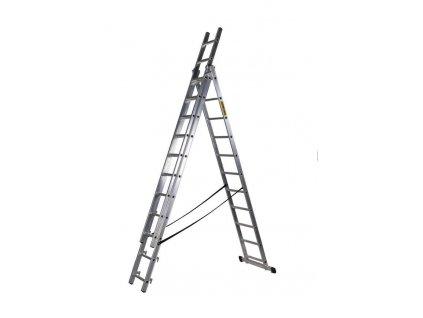 Rebrík Strend Pro DP 3x11, Alu, EN 131 max. 6.36 m, BASIC  + praktický pomocník k objednávke