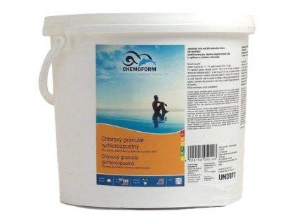 Granulát Chemoform, chlórový, rýchlorozpustný, 3 kg  + praktický pomocník k objednávke