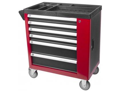 Dielenský vozík s náradím Strend Pro B224, 245 dielna skrinka, 6 zásuviek  + praktický pomocník k objednávke