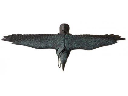 Plašič vtákov, Havran čierny, letiaci 80x11x45cm  + praktický pomocník k objednávke