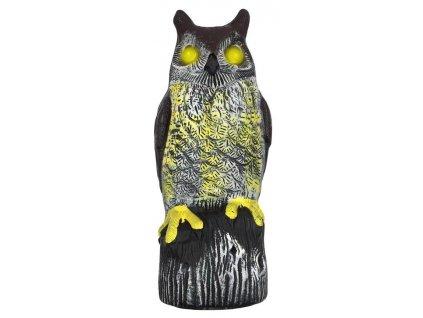 Plašič vtákov, Sova, solárna, svietiace oči, 41cm, zvuk  + praktický pomocník k objednávke