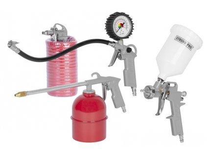 Sada na kompresor Airtool W-2005A1, 5 dielna, striekacia/ofukovacia/nafukovacia/rozprašovacia/hadica  + praktický pomocník k objednávke