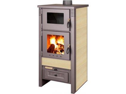 Kachle Pro TAURUS Ceramic, béžové, 12 kW, 120 mm, s rúrou na pečenie  + praktický pomocník k objednávke