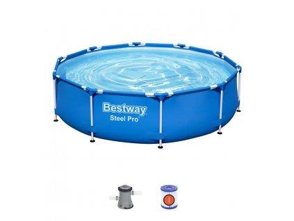 Bazén Bestway® Steel Pro™, 56679, filter, pumpa, 3,05x0,76 m  + praktický pomocník k objednávke