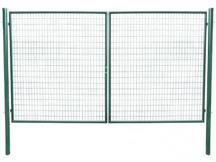 Brana METALTEC DUO 3580/1950/100x50 mm, dvojkridlova, zahradna, zelena, ZN+PVC, RAL6005  + praktický pomocník k objednávke
