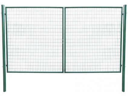 Brána Strend Pro METALTEC DUO, dvojkrídlová, záhradná, zelená, ZN+PVC, RAL6005, 3580/1950/100x50 mm  + praktický pomocník k objednávke