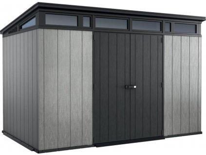 Domček Keter® ARTISAN 11x7, antracit/sivá, 342x218x226 cm, UV, DUOTECH™  + praktický pomocník k objednávke