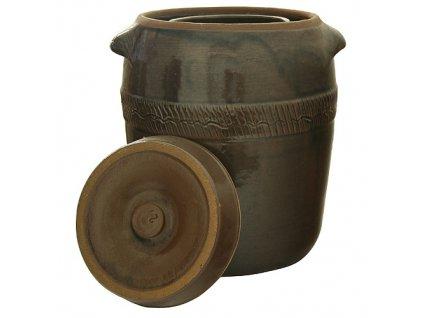 Súdok Ceramic 17 lit, na kapustu, II.trieda, s vrchnákom, 32x34 cm  + praktický pomocník k objednávke