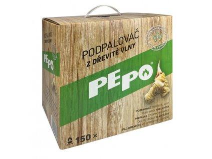 Podpaľovač PE-PO®, drevitá vlna, 150 kúskov  + praktický pomocník k objednávke