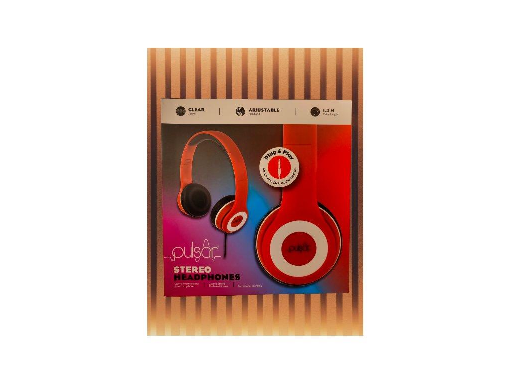 Pulsar stereo sluchátka 2571562 červená