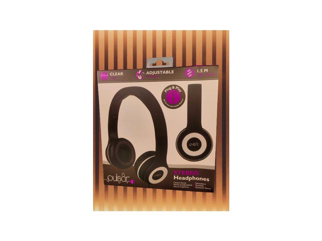 Pulsar stereo sluchátka 2571562 černá
