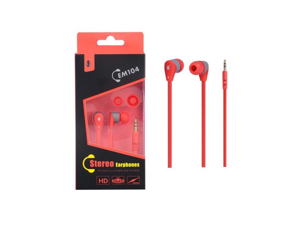 Sluchátka do uší PLUS, (EM104), červeno-šedá