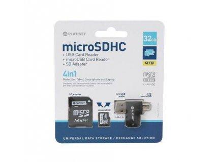PLATINET Micro SDHC 4v1 32GB (PMMSD32CR4)